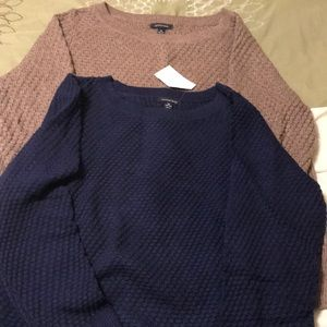 Lands End set of two sweaters